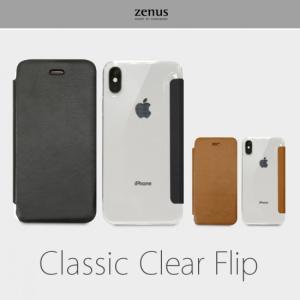 <Zenus>【iPhone XR 6.1インチ】 手帳型 Classic Clear Flip iPhoneのカラーが見える透明なケースに、クラシックな風合いのフロント部分がシンプル Z14233i61 msquall-y