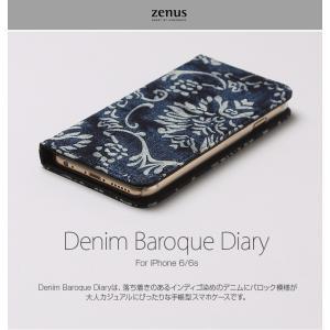 <ZENUS>【iPhone6s/iPhone6 4.7インチ】 手帳型 Denim Baroque Diary(ゼヌス デニムバロックダイアリー) Z9438i6S msquall-y