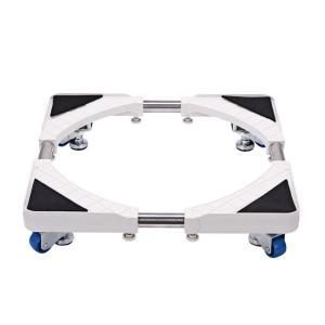 洗濯台 かさ上げ 昇降可能の洗濯機置き台 コンテナ台車 4つ移動式ホイール 寸法調節可能-HXF88A010|msryostyle