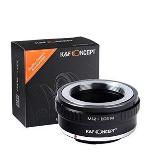 K&F Concept マウントアダプター M42マウントレンズ- Canon EOS Mカメラボデ...