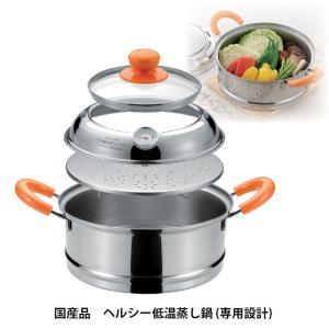野菜のおいしさと栄養を逃がさない ヘルシー低温蒸し鍋 SV-3826 GT807471(210817)日本製 温度計付(GT)|msstore-1147