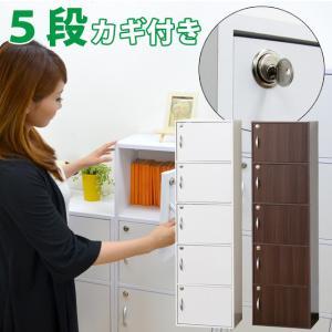 カラーボックス 収納 扉 5段 鍵付 収納ケース 収納棚 収納家具 収納ボックス フタ付き 送料無料(39434-kr)(KR) msstore-1147
