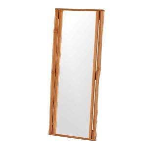 鏡 ミラー ウォールミラー 全身 スタンドミラー 姿見鏡 全身ミラー チーク無垢材 壁掛けミラー Q155WX (50666)(RW)|msstore-1147
