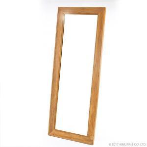 鏡 ミラー ウォールミラー 全身 スタンドミラー 姿見鏡 全身ミラー BREEZE チーク無垢材 ウォールミラー Q181XP (50671)(RW)|msstore-1147