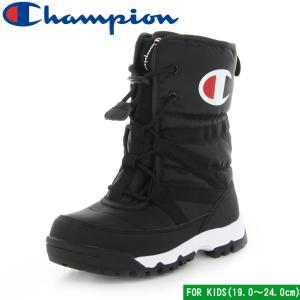 チャンピオン ジュニア スプラッシュコート2 ブラック 子供靴 ジュニア ウィンター ブーツ 防水 Champion CP JSC033W JR SPLASH COURT 2 19.0〜24.0cm mstage