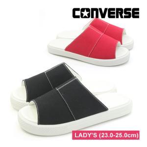 コンバース CV サンダル キャンバス ブラック レッド ネイビー レディース ユニセックス CONVERSE CV SANDAL CANVAS|mstage