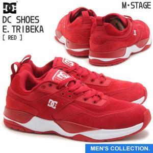 ディーシーシューズ メンズ イー・トライベッカ レッド ローカット スニーカー DC SHOES MEN'S E.TRIBEKA RED DM184002|mstage
