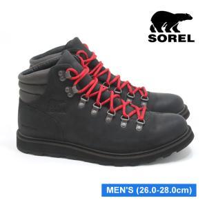 ソレル マドソン ハイカー ウォータープルーフ ブラック メンズ マウンテンブーツ アウトドア ウィンター スノー 防水 SOREL MADSON HIKER WATERPROOF BLACK|mstage