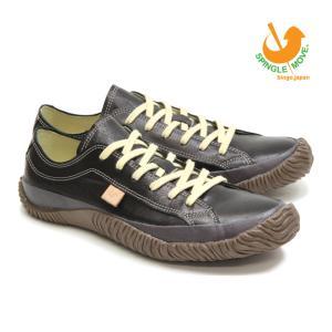 スピングルムーブ SPINGLE MOVE スニーカー 革靴 SPM-110 BLACK ブラック 黒 メンズサイズ ローカット 無地 日本製|mstage
