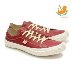 スピングルムーブ SPINGLE MOVE スニーカー 革靴 SPM-110 RED レッド 赤 メンズサイズ ローカット ビジカジ 無地 日本製|mstage