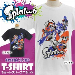 スプラトゥーン Splatoon 大人用 半袖Tシャツ(スプラトゥーン グッズ tシャツ メンズ レディース 半袖 綿100% ホワイト|mstore
