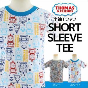 きかんしゃトーマス TOMAS 半袖Tシャツ(きかんしゃトーマス TOMAS 半袖tシャツ キッズ ホワイト グレー 子供用) mstore