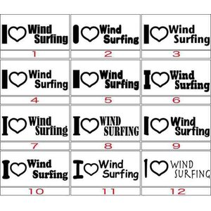 カッティング ステッカー 〜 I Love WindSurfing (ウインドサーフィン)(選べる2...