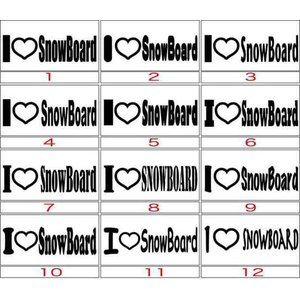カッティングステッカー 〜I Love SnowBoard ...