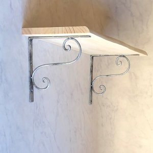 アイアン棚受け・ブラケット おしゃれ金具 鉄職人の手作りシンプルで美しい