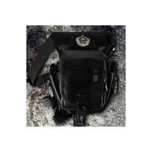 陸上自衛隊ミリタリーレッグポーチブラック 自衛隊モデル グッズ 自衛隊用品 通販 販売店 mtd