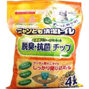 ニャンとも清潔トイレ 脱臭・抗菌チップ 大きめの粒 4L 単品1個|mtd