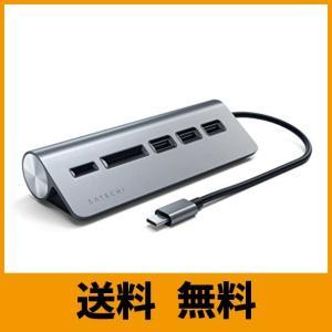 Satechi Type-C アルミニウム USBハブ & Micro/SDカードリーダー (201...