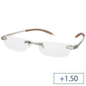 シニアフレックス 超弾性グラス 老眼鏡 SF06 メンズ +1.50 クリアダークブルー|mtmlife
