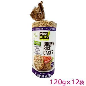 rice UP(ライスアップ) ブラウンライスケーキ(米菓子) セブンスーパーシード 120g×12袋 3800233071542 mtmlife