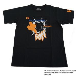 僕のヒーローアカデミア Tシャツ 爆豪勝己 シルエット X513-824 040 ブラック|mtmlife