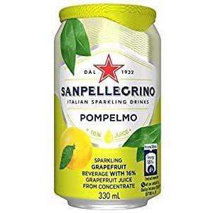 サンペレグリノ スパークリンクドリンク ポンペルモ(グレープフルーツ)缶 330ml 24個セット W1-35 mtmlife