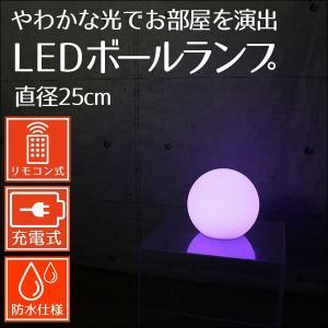 インテリアライト LEDボールランプ 直径25cm ボール型ライト フロストガラス風|mtshopid