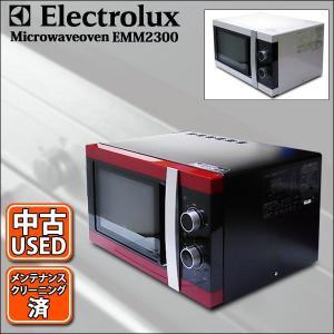 USED ユーロデザイン 電子レンジ エレクトロラックス EMM2300 東日本・西日本 50hz・60hz  シルバー・ホワイト 中古|mtshopid