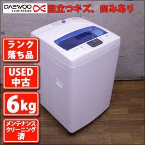 ランク落ち品 DW-S60KB 6.0kg全自動洗濯機 Daewoo 年内製造〜二年落ち程度(USED 中古 お買い得) mtshopid