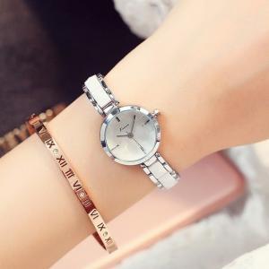 女性腕時計 クォーツ Kimio 高級ブランド シルバーホワイト
