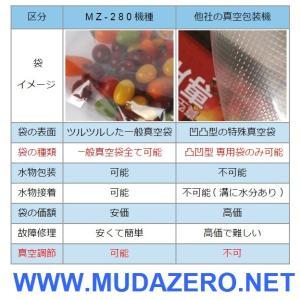 真空パック器 ( MZ-280-B ) 水物対応・専用袋不要|mudazero|04
