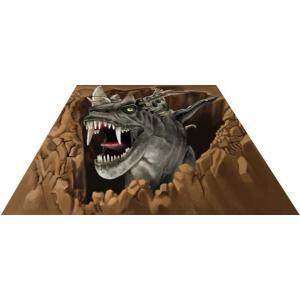 3Dストリートアート 恐竜