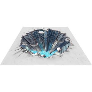 3Dストリートアート 未来都市