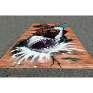 3Dストリートアート サメ