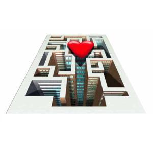 3Dストリートアート LOVE迷路