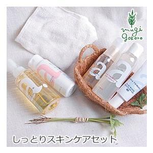 しっとりセット 無添加 アンナトゥモール クレンジングオイル・洗顔パウダー・美容液・化粧水・保湿ジェルのセット オーガニック 送料無料|mugigokoro-y