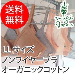 ブラジャー オーガニック コットン オーガニックガーデン organic garden ベア天フロントホックブラ サイズLL  無添加 送料無料 オーガニックコットン 天然|mugigokoro-y