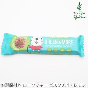 アクティベート ロークッキー 無添加 グリーンアンドモア GREEN & MORE ピスタチオ・レモン 4個(約28g) 購入金額別特典あり 正規品|mugigokoro-y