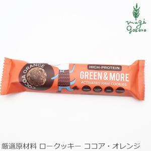 アクティベート ロークッキー 無添加 グリーンアンドモア GREEN & MORE ココア・オレンジ 4個(約28g) 購入金額別特典あり 正規品|mugigokoro-y