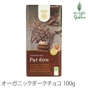 ゲパ GEPA オーガニック ダークチョコレート 100g×2個セット チョコレート オーガニック 無添加 送料無料 フェアトレード 天然 mugigokoro-y
