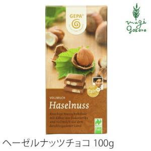 ゲパ GEPA オーガニック ヘーゼルナッツミルクチョコレート  100g×2個セット チョコレート オーガニック 無添加 送料無料 フェアトレード mugigokoro-y