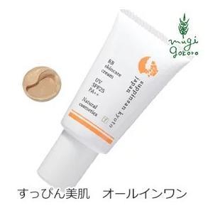 BBクリーム オーガニック 京のすっぴんさん ナチュラル素肌色クリームBB SPF25 PA++ 30g 無添加 ファンデーション ノンケミカル|mugigokoro-y