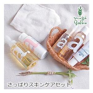 さっぱりセット 無添加 アンナトゥモール クレンジングオイル・洗顔パウダー・化粧水・美容液・保湿ジェルのセット スキンケアセット オーガニック 送料無料|mugigokoro-y