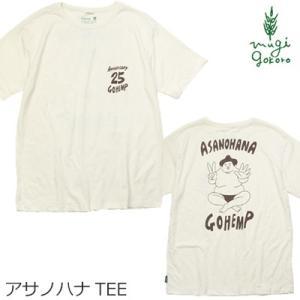 Tシャツ 無添加 ゴーヘンプ GOHEMP アサノハナ ベーシックTシャツ ASANOHANA BASIC S/SL TEE オーガニック 送料無料 ヘンプ オーガニックコットン 麻 半袖|mugigokoro-y