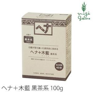 ナイアード ヘナ+木藍 黒茶系 100g×2個セット 白髪染め オーガニック 無添加 ヘアケア ヘナ ノンシリコン 天然 の商品画像|ナビ