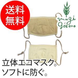 マスク オーガニック コットン オーガニックガーデン organic garden 立体エコマスク 無添加 送料無料 無農薬 オーガニックコットン 天然|mugigokoro-y