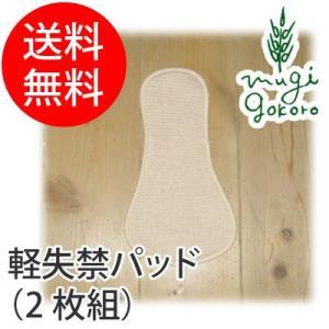 布ナプキン オーガニック コットン オーガニックガーデン organic garden 軽失禁パッド(2枚組) 約12×22cm 無添加 送料無料|mugigokoro-y