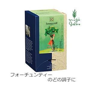 紅茶 ハーブティー 無添加 ゾネントア sonnentor バラエティーラインナップ フォーチュンティー 1.5g X 18袋 オーガニック アップル レモン ペパーミント|mugigokoro-y