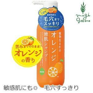 シャンプー 無添加 植物生まれ(オレンジ) 植物生まれのオレンジ地肌シャンプーN 400ml オーガニック 石澤研究所 ヘアケア 天然 ナチュラル ノンケミカル|mugigokoro-y