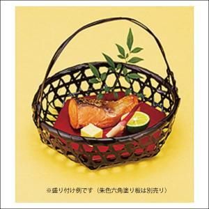溜塗り若菜篭(大)4個セット YB-22136 竹製品 料理篭 手付竹篭|mugimugi-studio|06